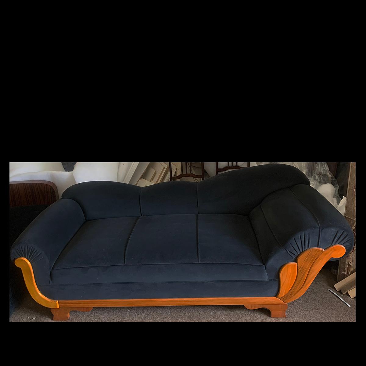 - German Art Deco Large Three Seater Sofa, Chaise Lounge – Artedeco